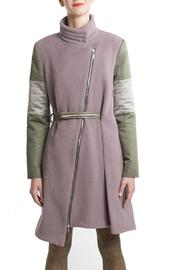 Clara Kaesdorf Coat Pink Green - Front full body