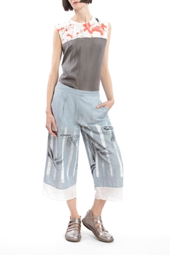 Shoptiques Product: Culotte Blue Linen