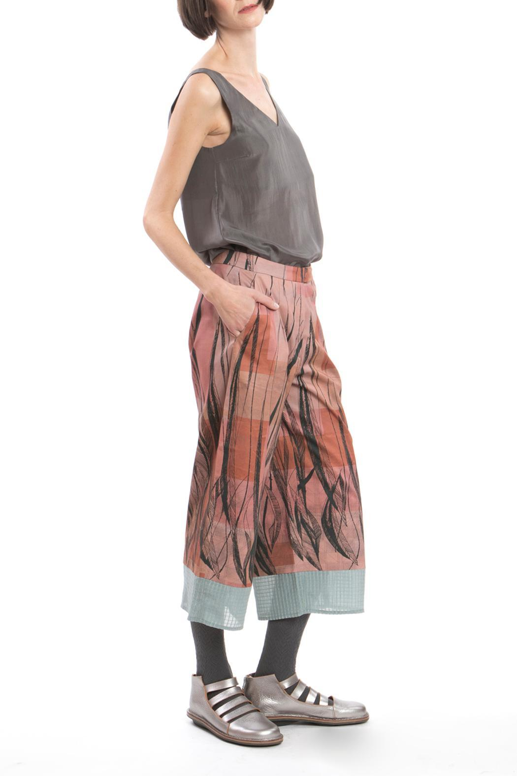 Clara Kaesdorf Culotte Feather Print - Front Cropped Image
