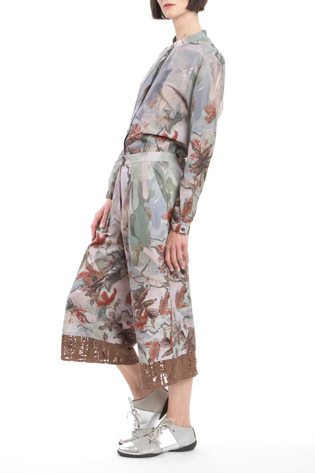 Clara Kaesdorf Culotte Red Flower - Front Cropped Image