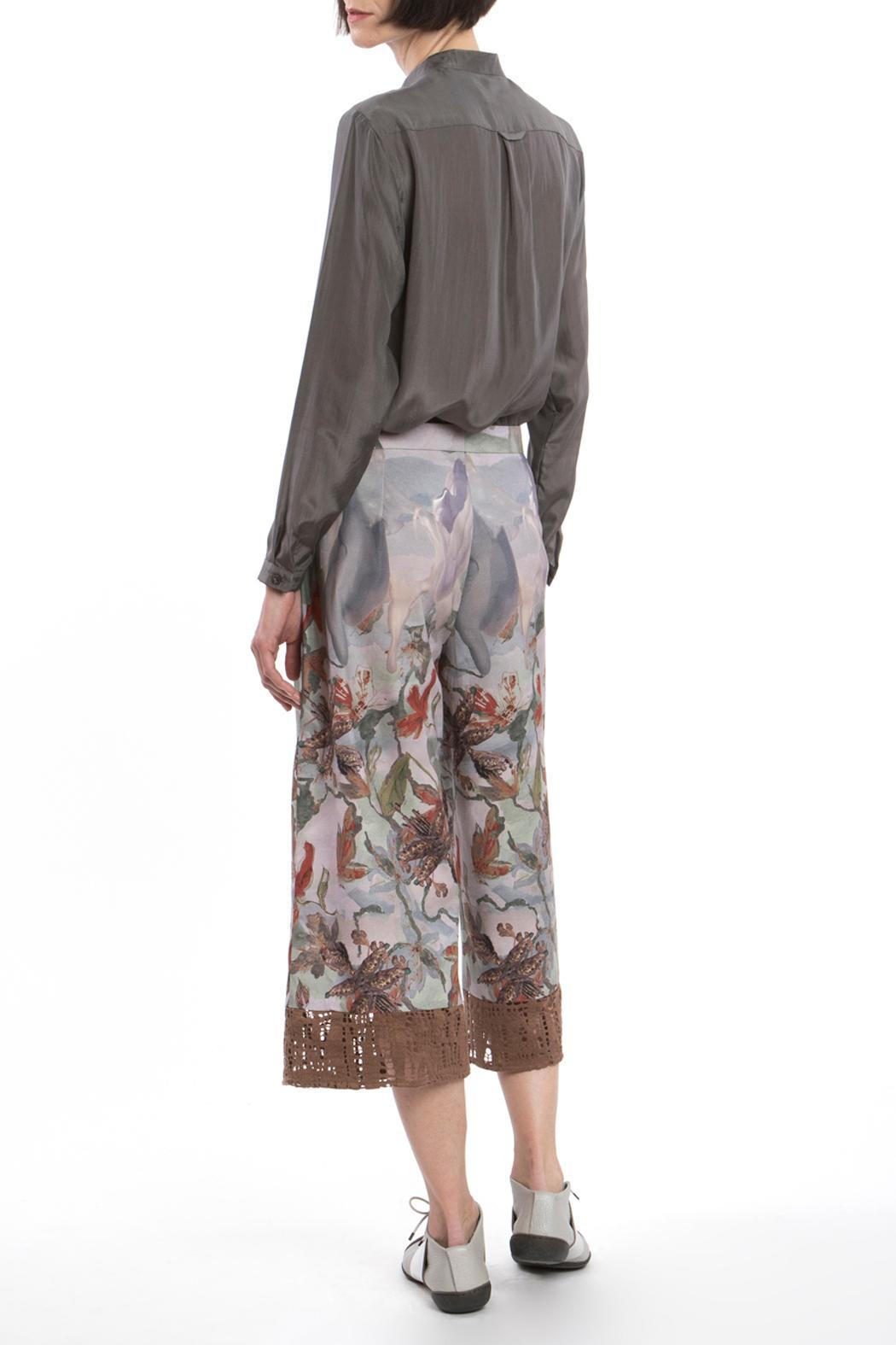 Clara Kaesdorf Culotte Red Flower - Side Cropped Image