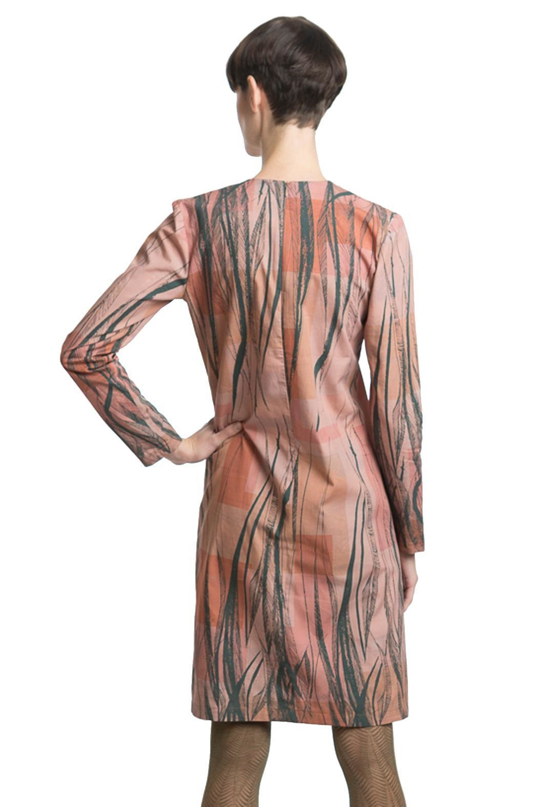 Clara Kaesdorf Dress Feather Print - Side Cropped Image