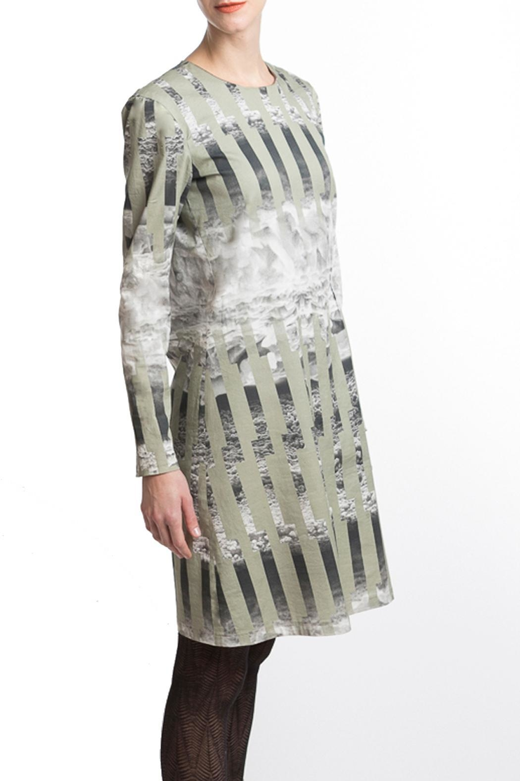 Clara Kaesdorf Dress Green Ice - Back Cropped Image