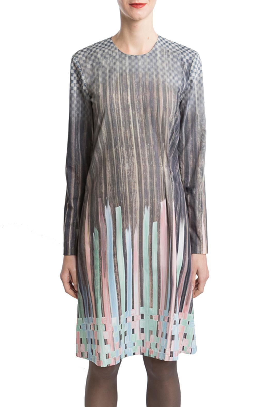Clara Kaesdorf Dress Pastel-Colour Gradient - Back Cropped Image