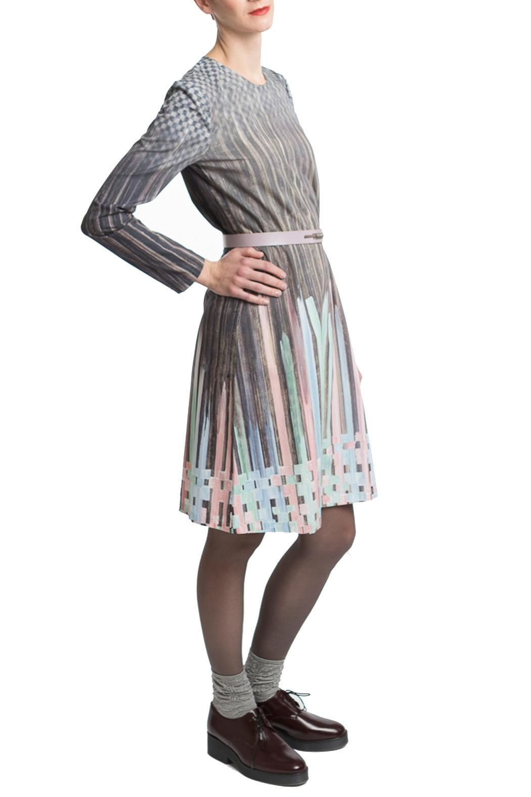Clara Kaesdorf Dress Pastel-Colour Gradient - Front Cropped Image
