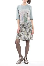 Clara Kaesdorf Dress Slim Flower Blue - Product Mini Image