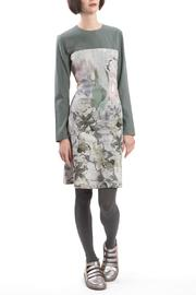 Clara Kaesdorf Dress Slim Flower Green - Product Mini Image