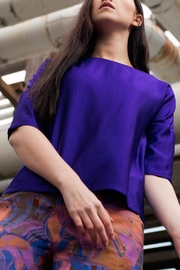 Clara Kaesdorf Elegant Blouse Purple - Side cropped