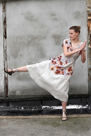 Clara Kaesdorf Elegant Linen Dress - Product Mini Image