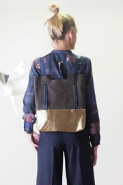 Clara Kaesdorf Leather Backpack-Shopper Gold - Product Mini Image