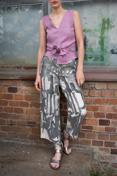 Clara Kaesdorf Linen Culottes Grey - Alternate List Image