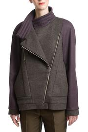 Clara Kaesdorf Long Jacket Purple Sleeves - Product Mini Image