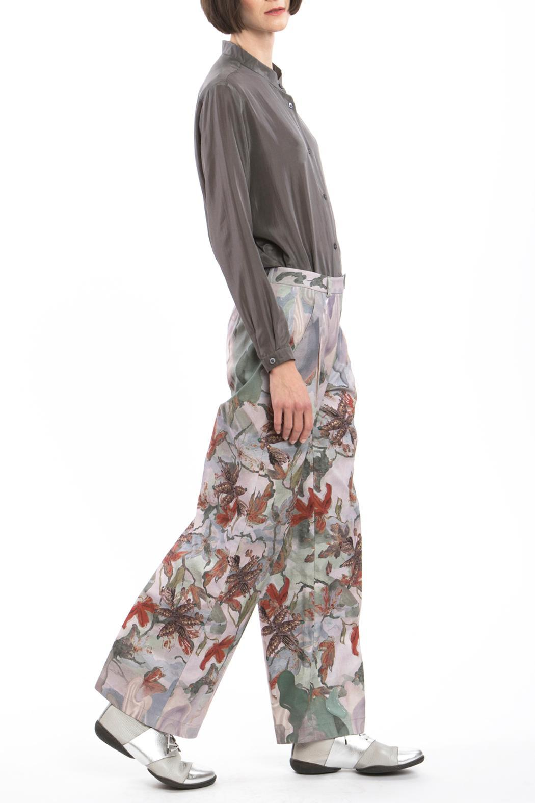 Clara Kaesdorf Red Marlene Pants Flower - Front Cropped Image