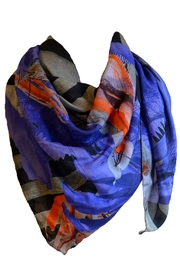Clara Kaesdorf Printed Scarf Blue-Red - Product Mini Image