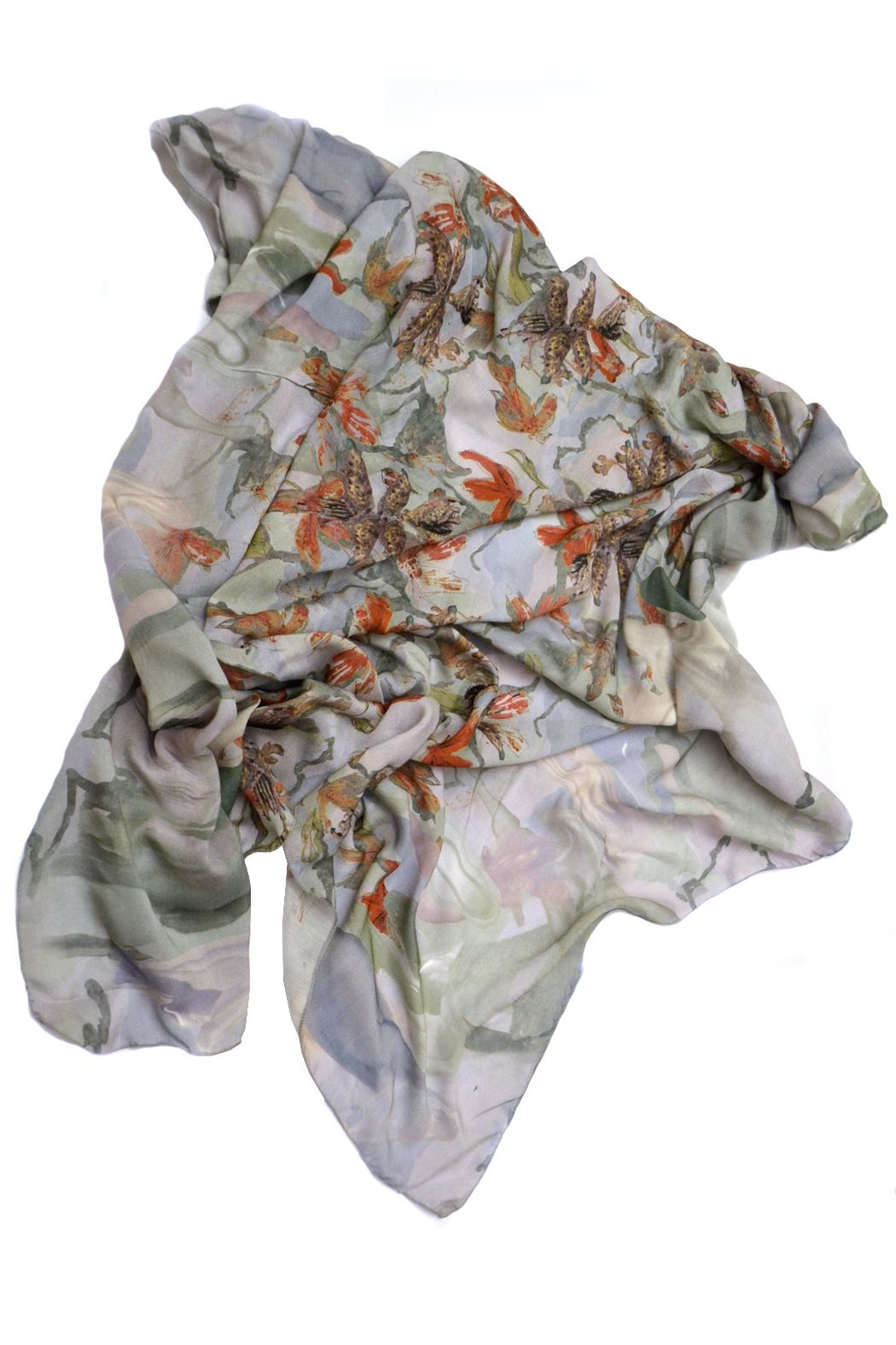 Clara Kaesdorf Scarf  Flower Red - Front Full Image