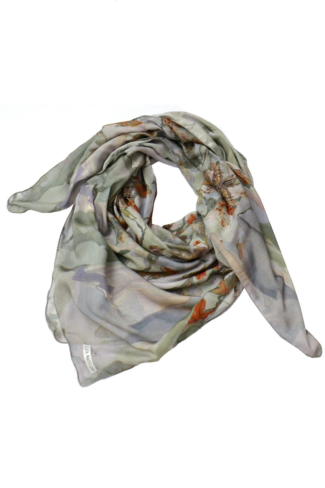 Clara Kaesdorf Scarf  Flower Red - Front Cropped Image