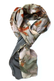Clara Kaesdorf Scarf  Flower Red - Front full body