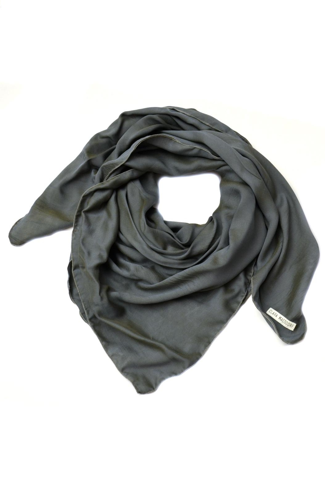 Clara Kaesdorf Scarf Grey/blue - Front Cropped Image