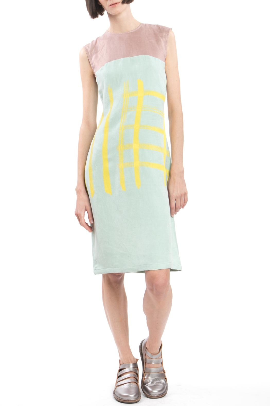 Clara Kaesdorf Shift Yellow Print Dress - Main Image