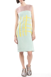 Clara Kaesdorf Shift Yellow Print Dress - Product Mini Image