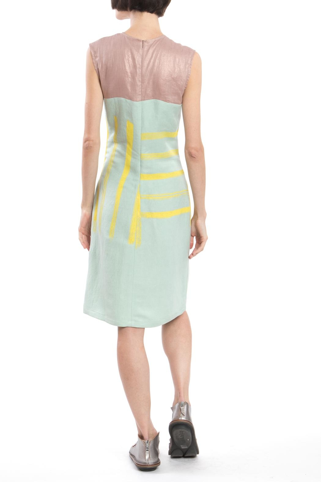 Clara Kaesdorf Shift Yellow Print Dress - Front Full Image