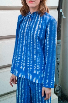 Clara Kaesdorf Shirt With Collar Detailing In Blue - Product List Image