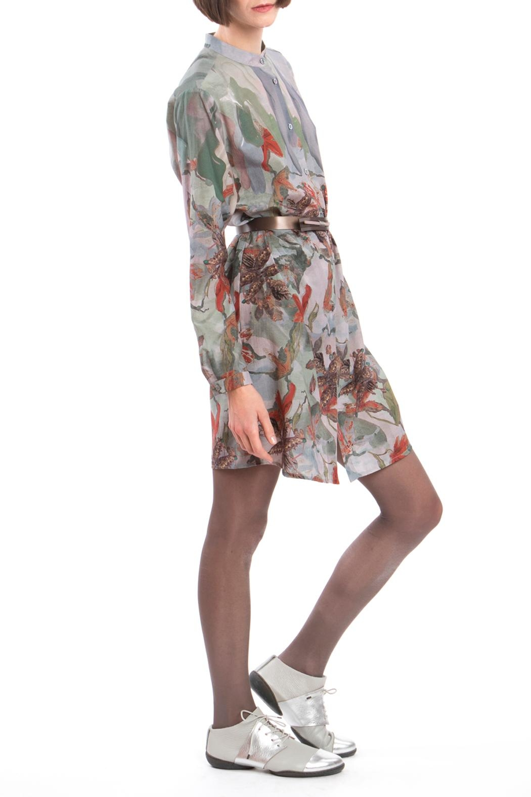 Clara Kaesdorf Shirtdress Flower Red - Back Cropped Image