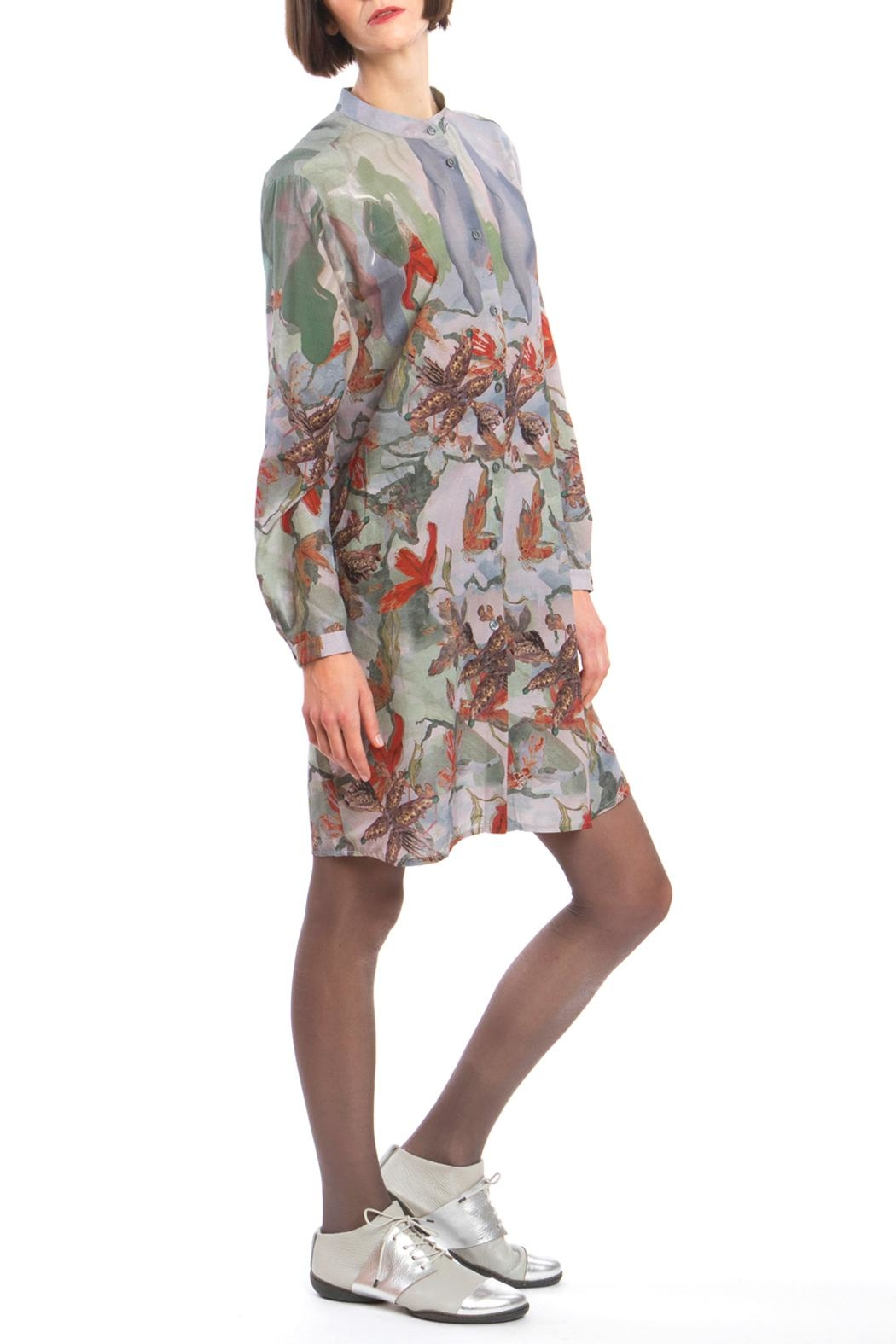 Clara Kaesdorf Shirtdress Flower Red - Main Image