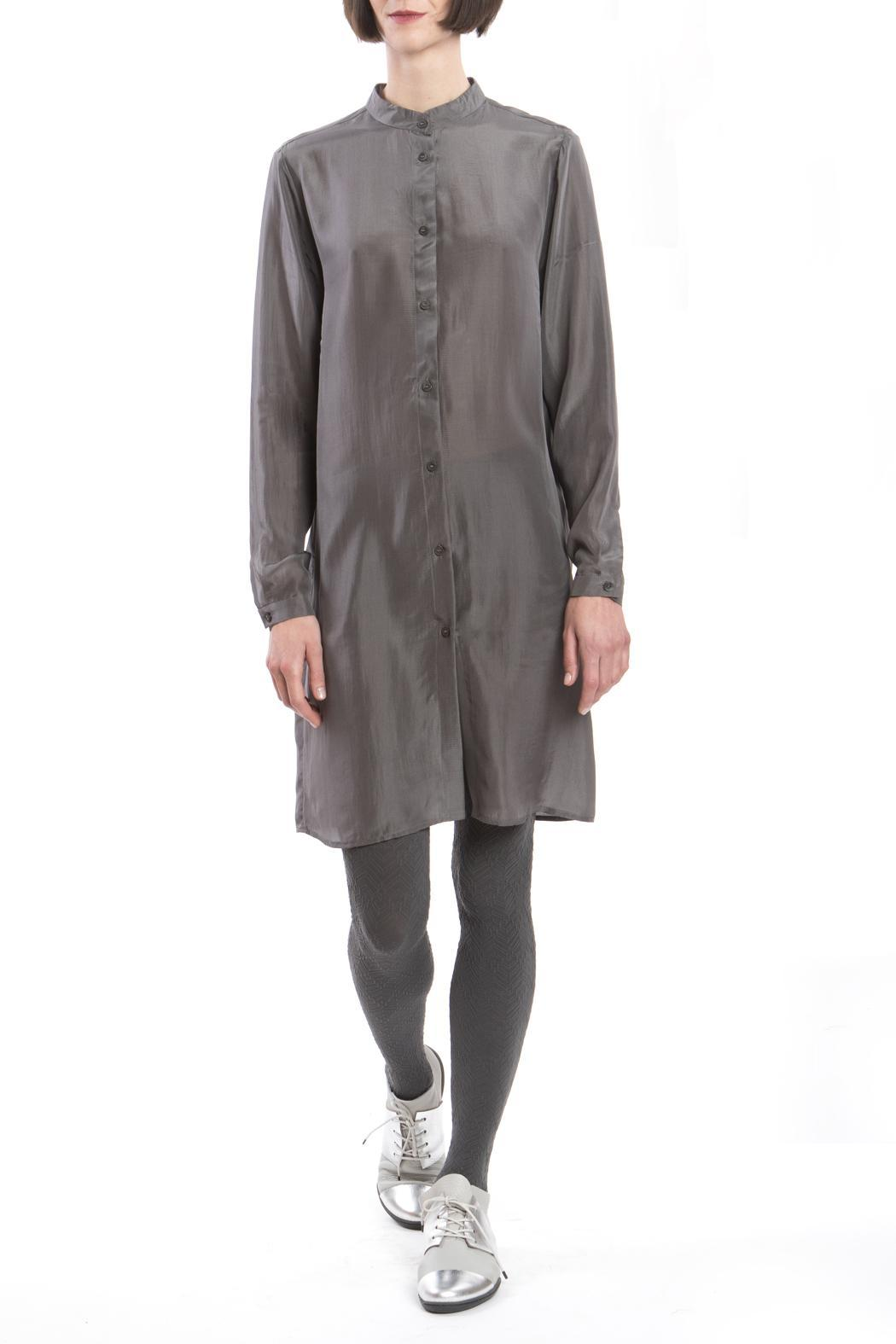 Clara Kaesdorf Grey Silk Shirtdress - Main Image
