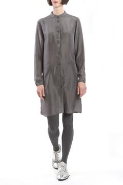 Shoptiques Product: Grey Silk Shirtdress