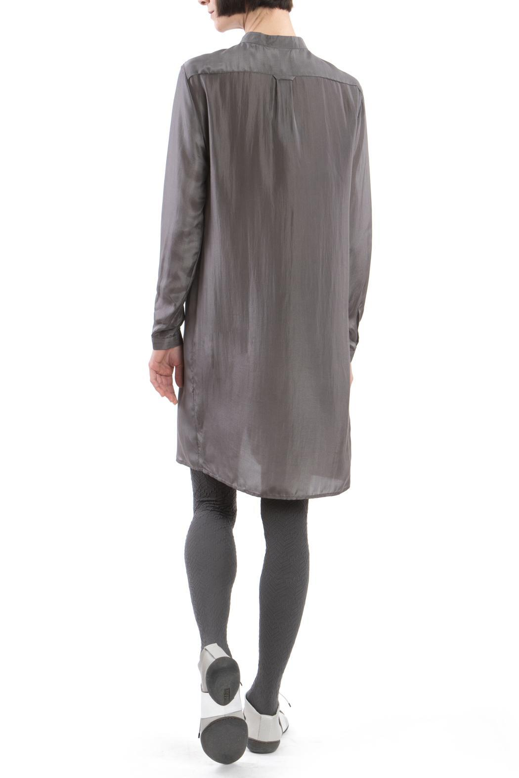 Clara Kaesdorf Grey Silk Shirtdress - Front Full Image