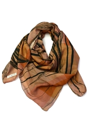 Clara Kaesdorf Silk Scarf Feather - Front cropped
