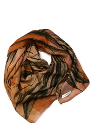 Clara Kaesdorf Silk Scarf Feather - Front full body