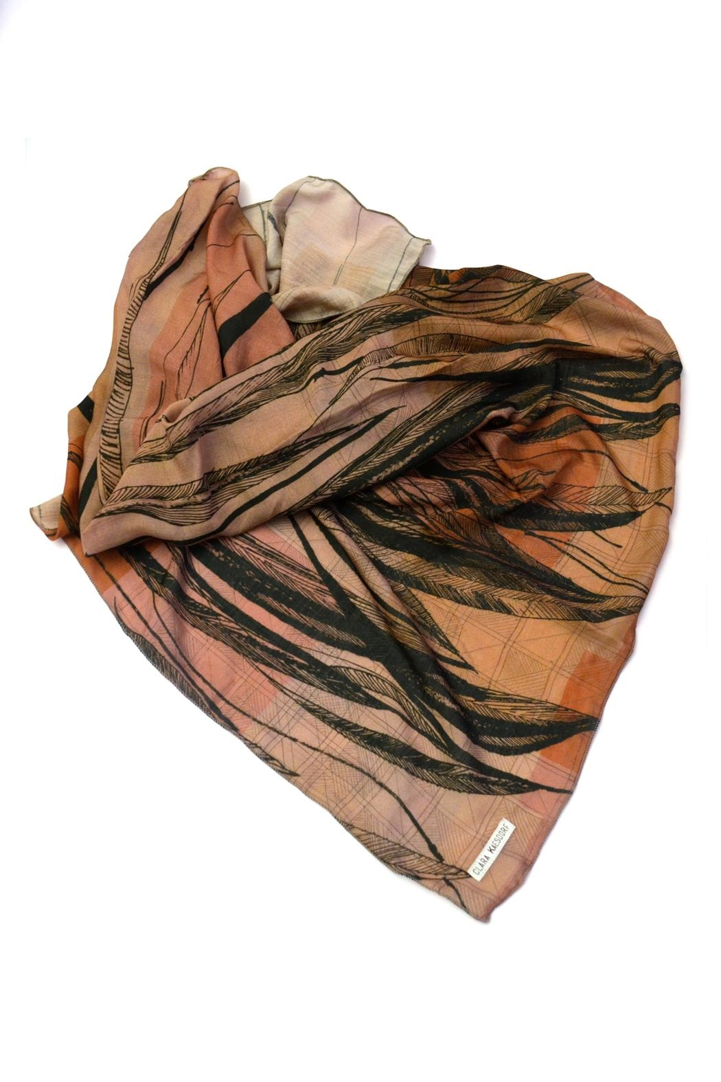 Clara Kaesdorf Silk Scarf Feather - Side Cropped Image