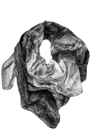 Clara Kaesdorf Silk Scarf Ice-Crystal - Front cropped