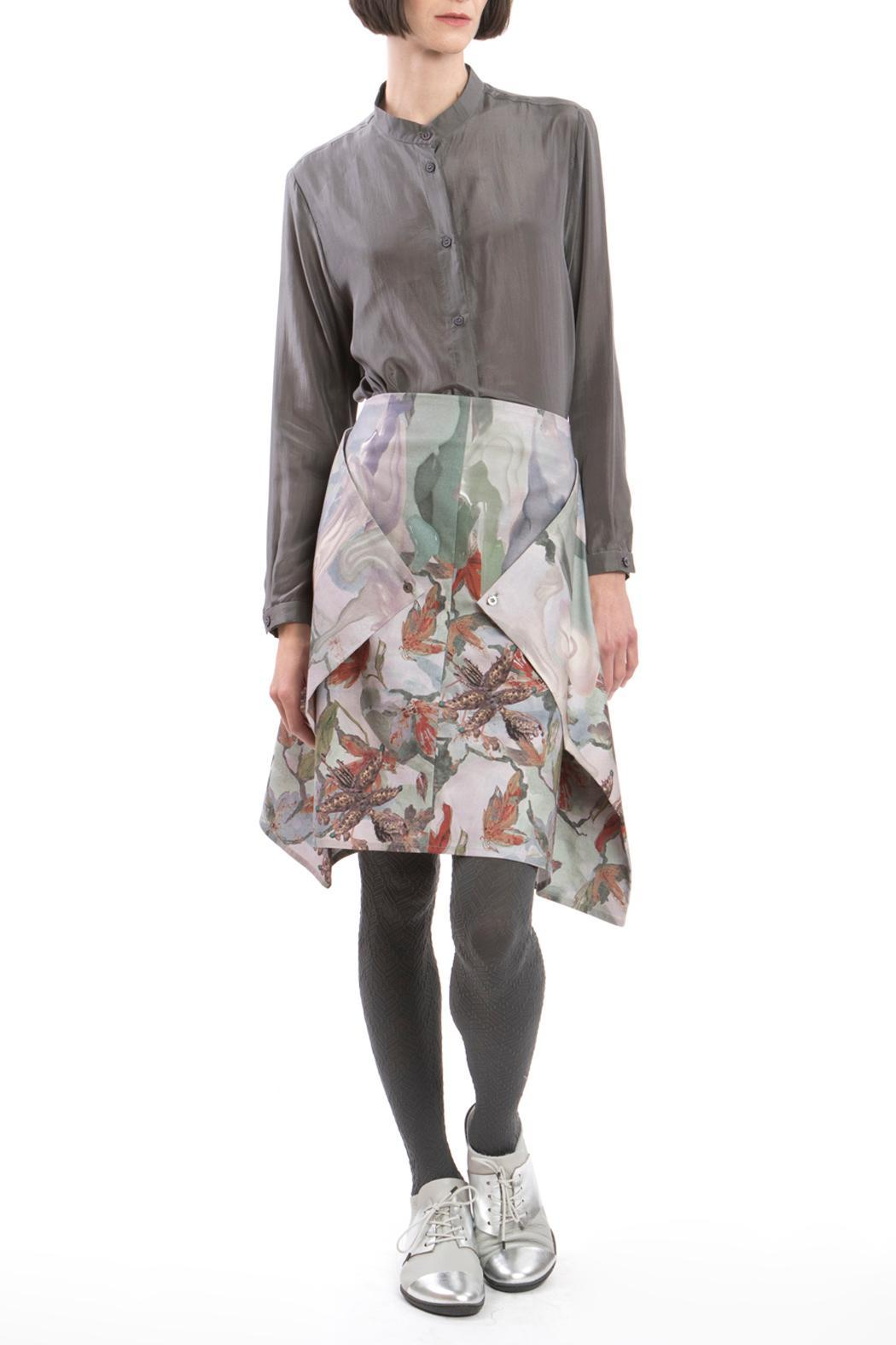 Clara Kaesdorf Skirt Modifiable Flower Red - Side Cropped Image