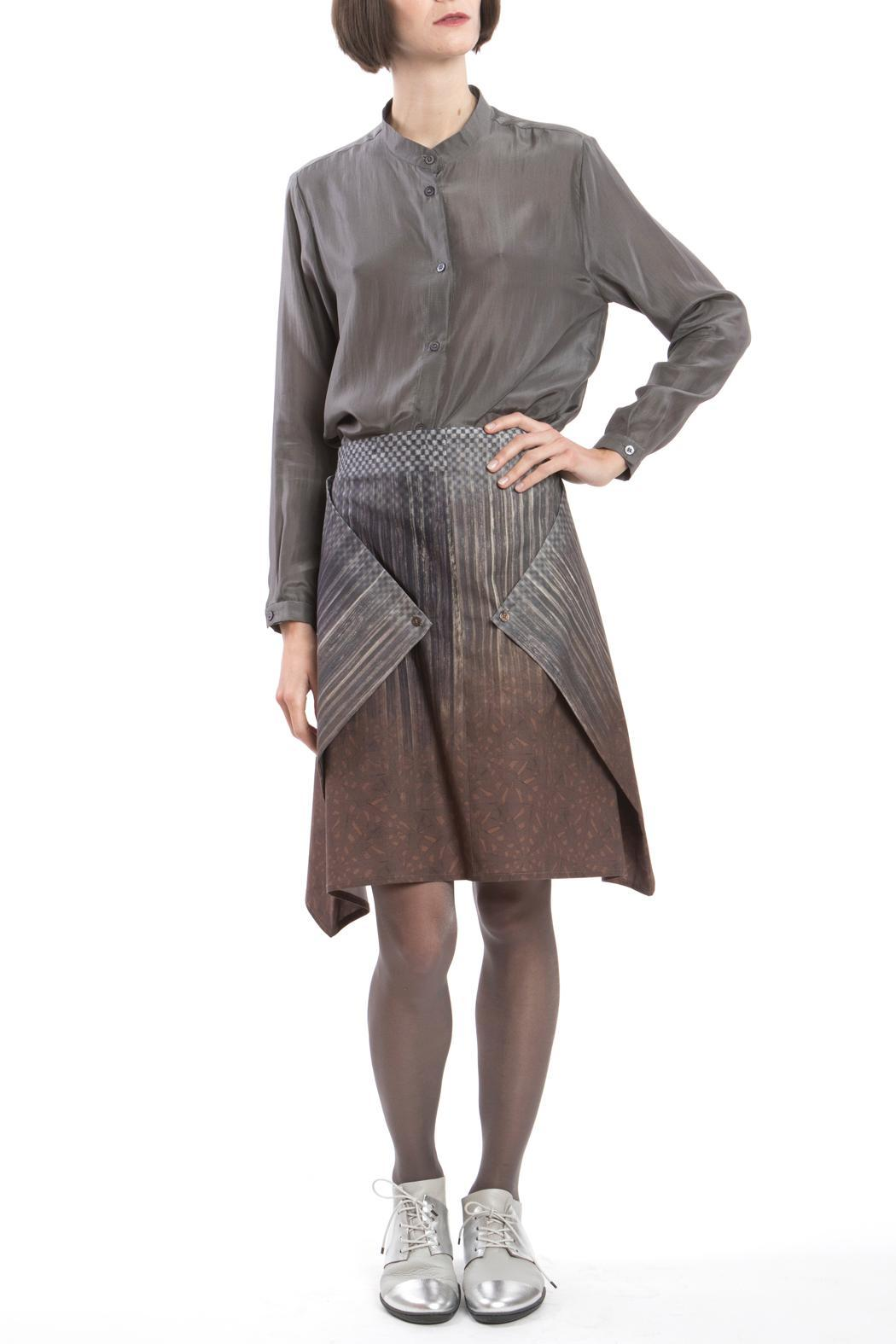 Clara Kaesdorf Skirt Modifiable Gradient Brown - Side Cropped Image