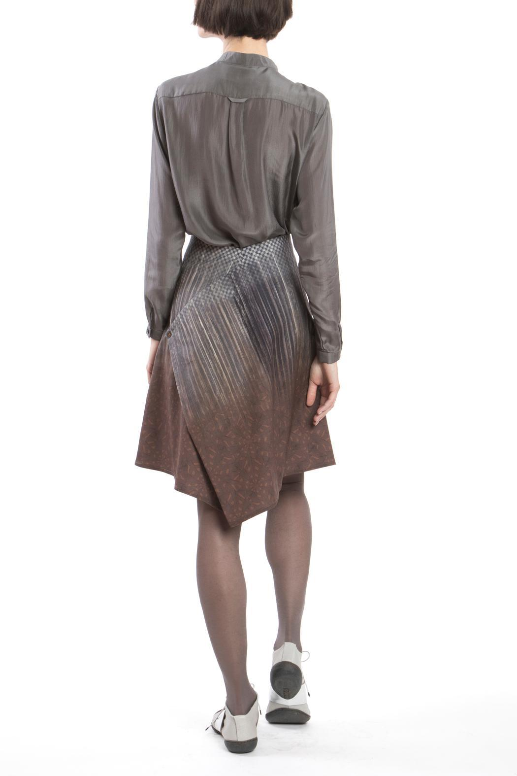 Clara Kaesdorf Skirt Modifiable Gradient Brown - Back Cropped Image