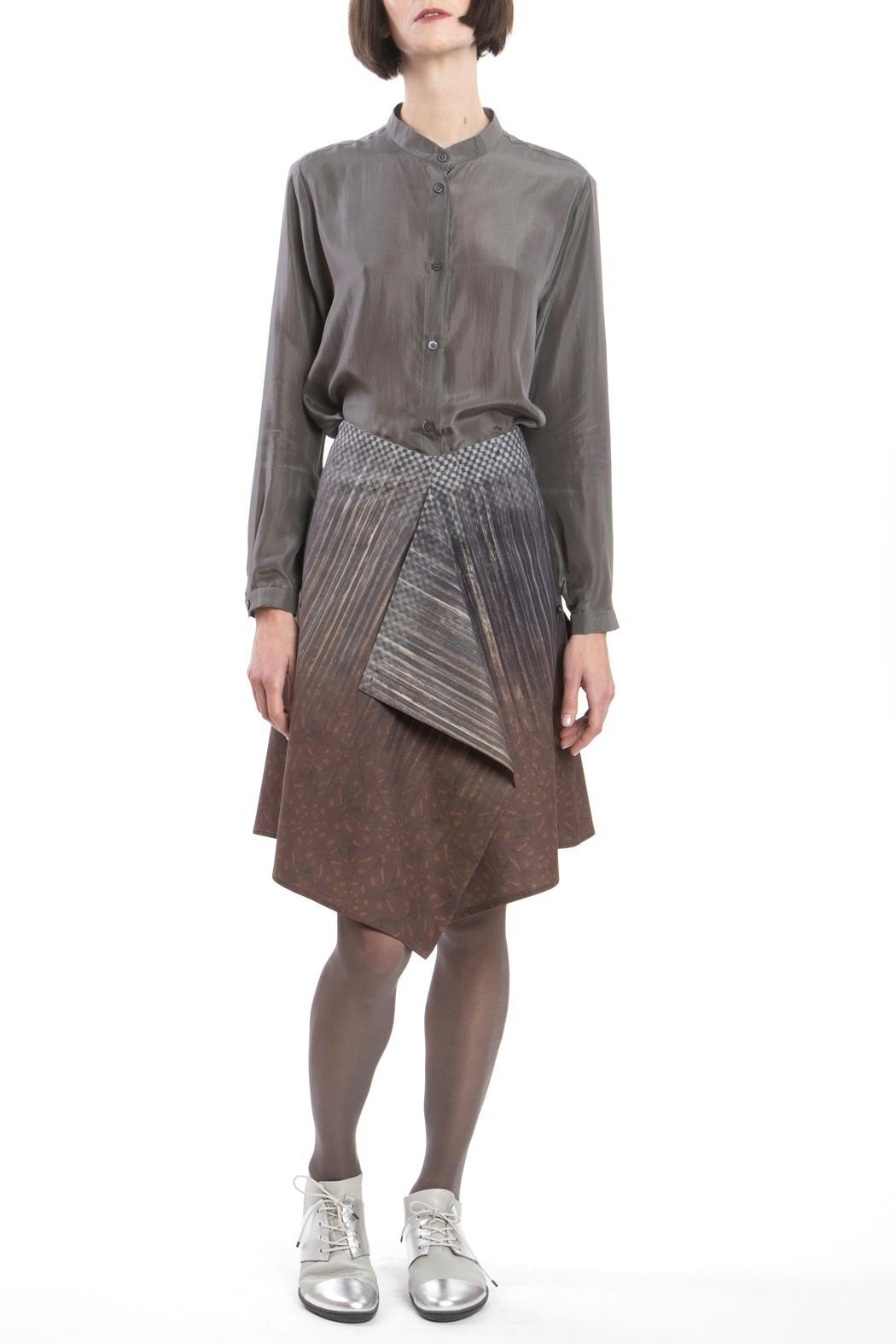 Clara Kaesdorf Skirt Modifiable Gradient Brown - Front Cropped Image