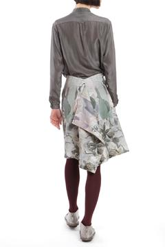 Shoptiques Product: Skirt Modifiable Grey Skirt
