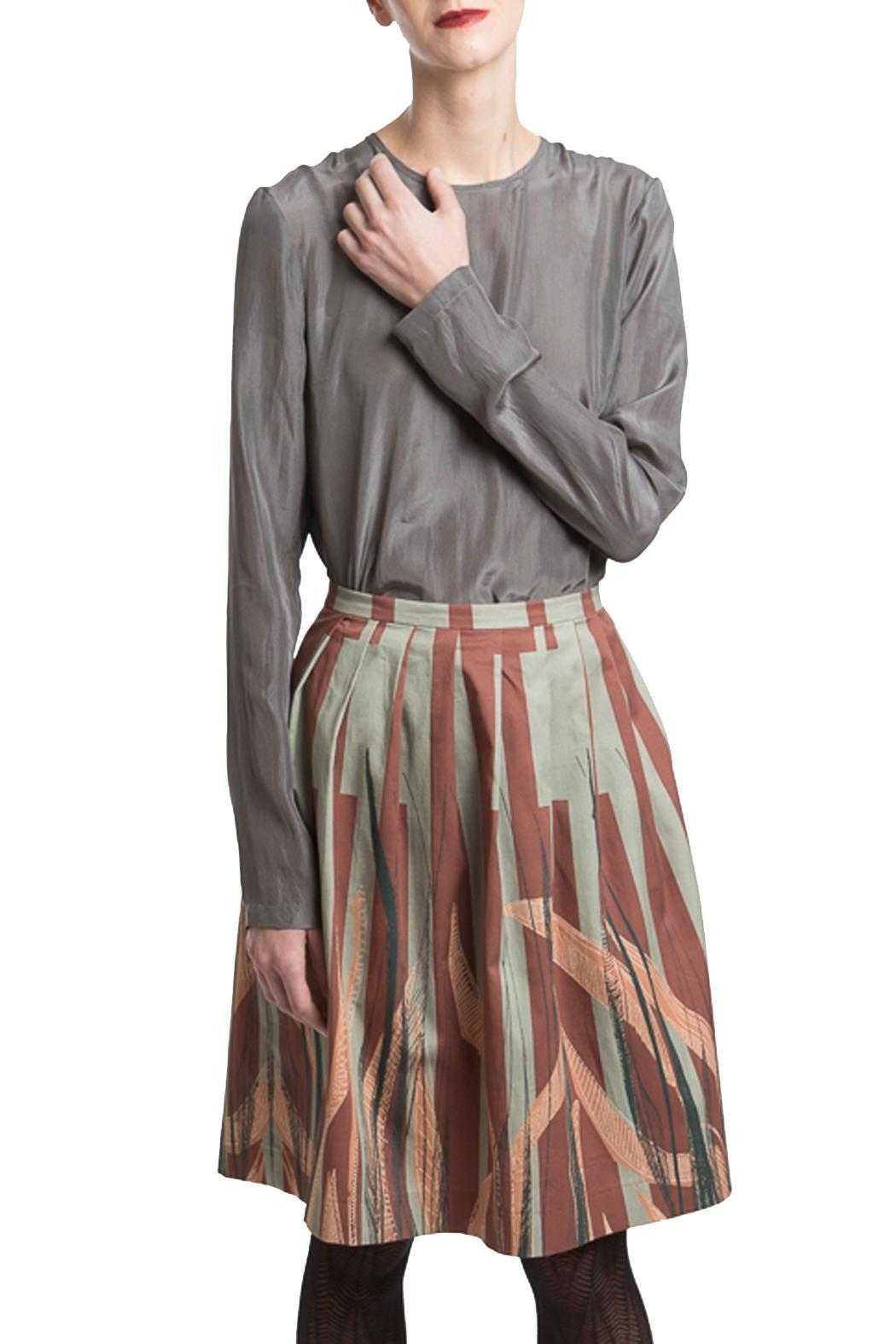 Clara Kaesdorf Skirt Wide Leaves - Front Full Image