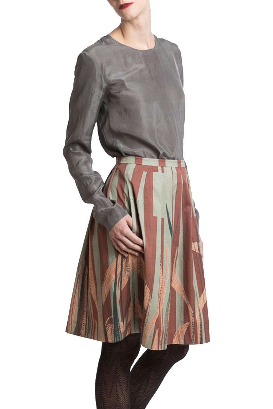 Clara Kaesdorf Skirt Wide Leaves - Main Image