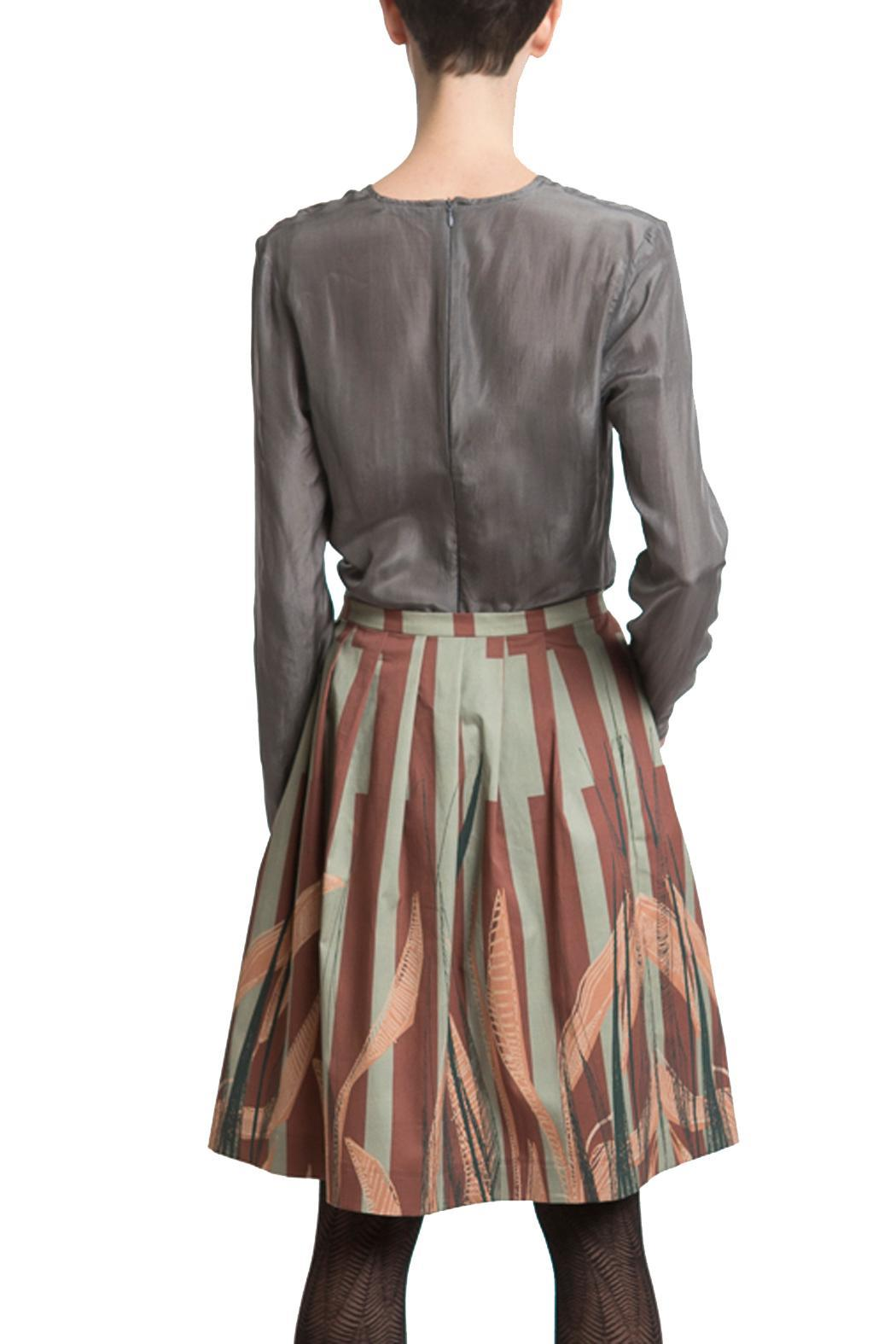 Clara Kaesdorf Skirt Wide Leaves - Back Cropped Image