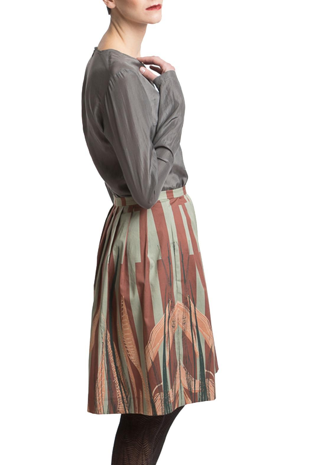 Clara Kaesdorf Skirt Wide Leaves - Side Cropped Image
