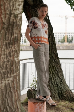 Clara Kaesdorf Stiped Pants Linen - Product List Image