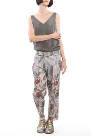 Clara Kaesdorf Trousers Flower Red - Front full body
