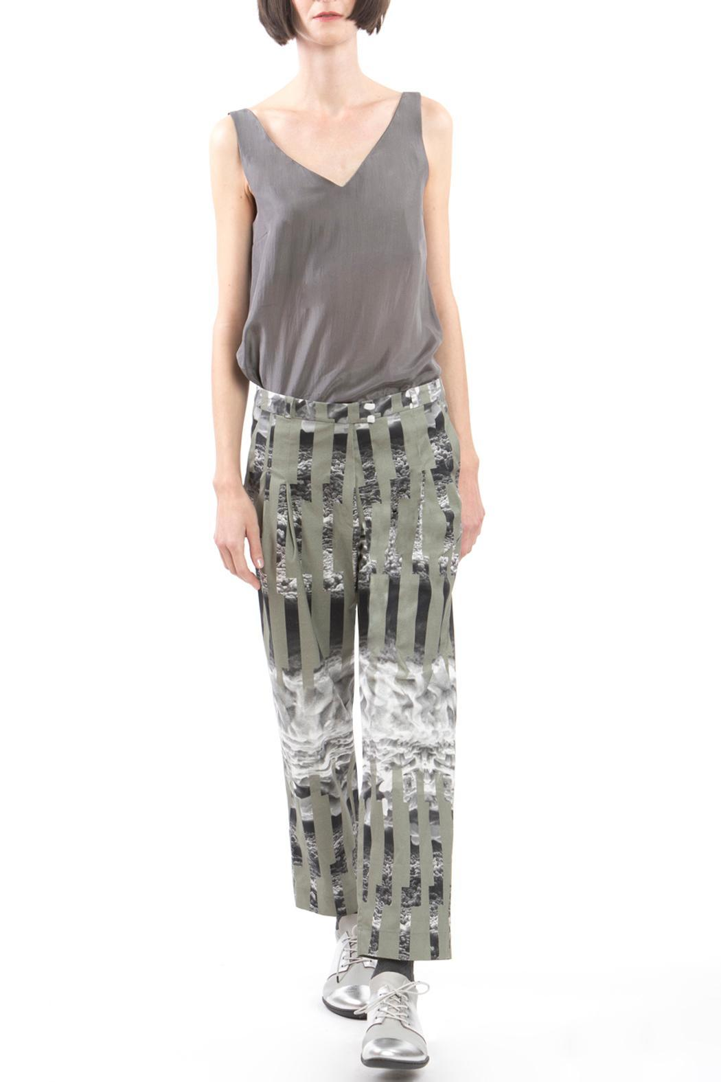 Clara Kaesdorf Trousers Ice Crystal Green - Front Full Image