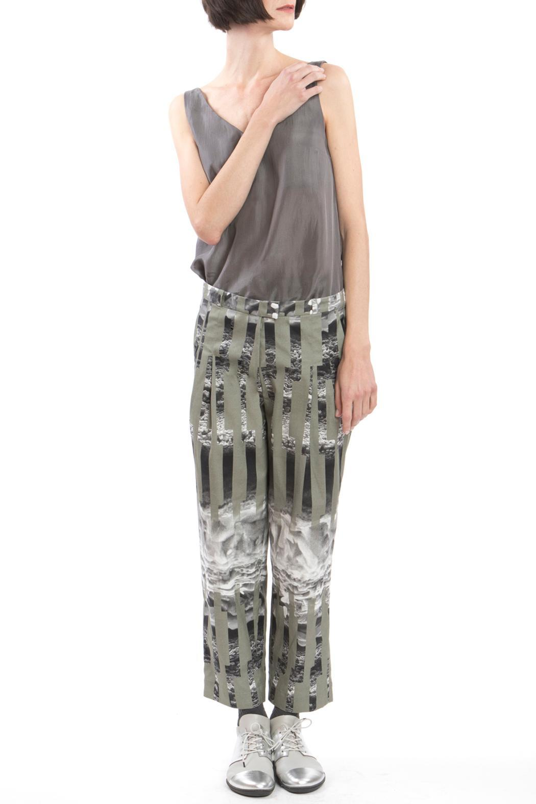 Clara Kaesdorf Trousers Ice Crystal Green - Back Cropped Image