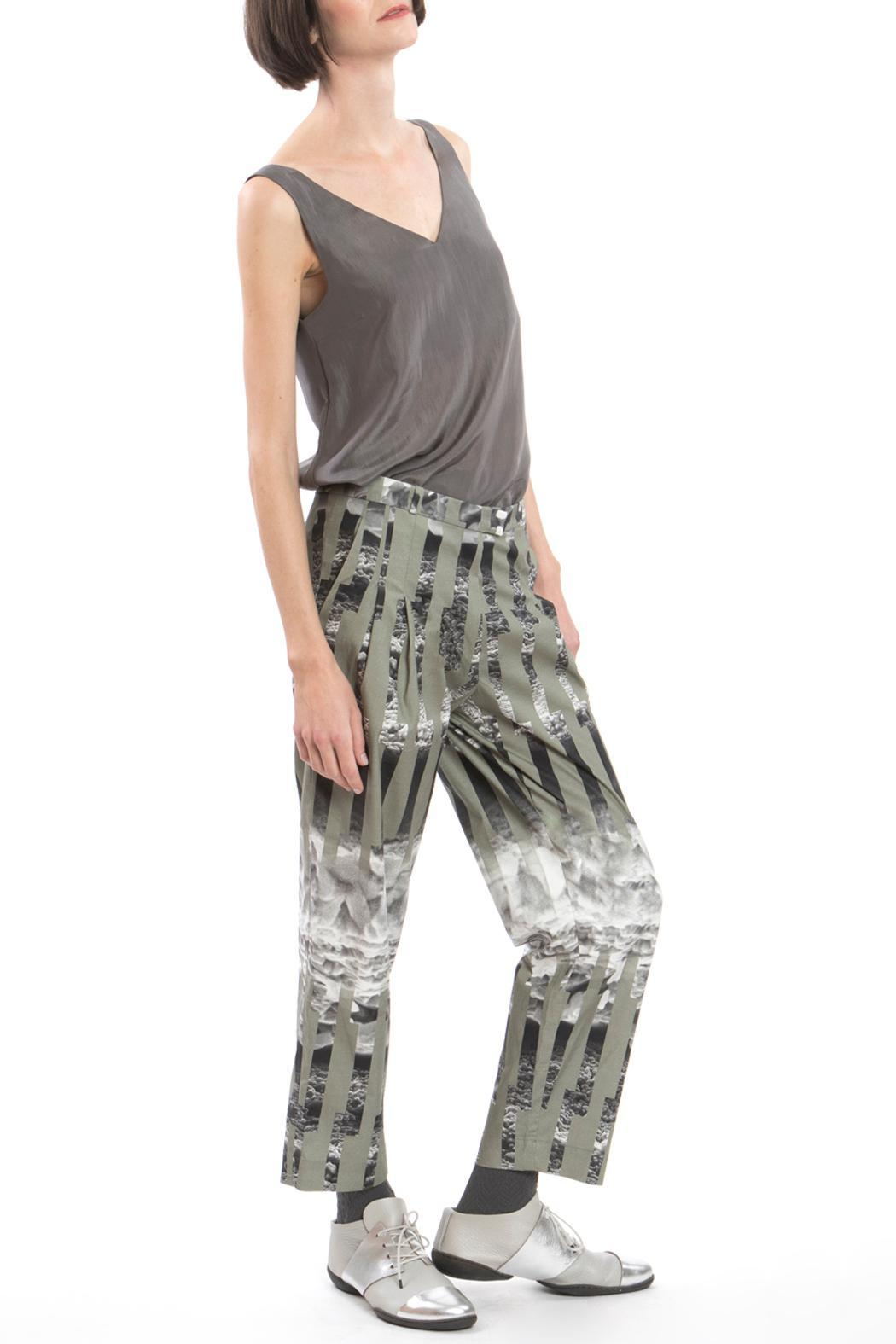 Clara Kaesdorf Trousers Ice Crystal Green - Front Cropped Image