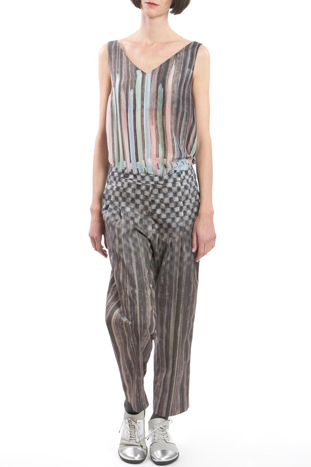 Clara Kaesdorf Trousers Pleats Grey - Side Cropped Image